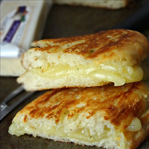 Great Midwest Cheese Garlic Herb Ciabatta Grilled Cheese